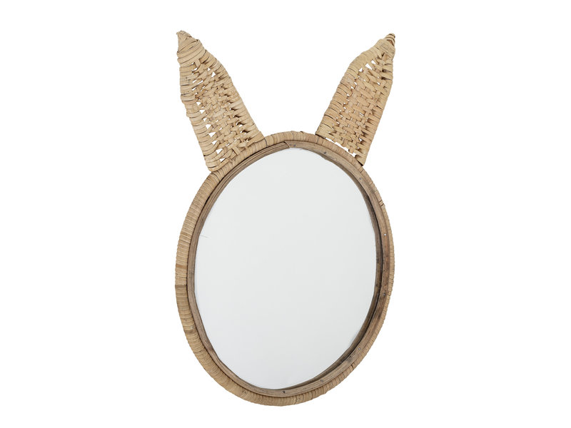 Bloomingville Mini Spiegel riet - naturel