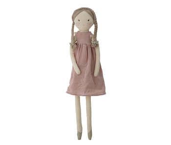 Bloomingville Mini Lilly soft toy doll cotton - pink