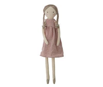 Bloomingville Mini Poupée peluche Lilly coton - rose