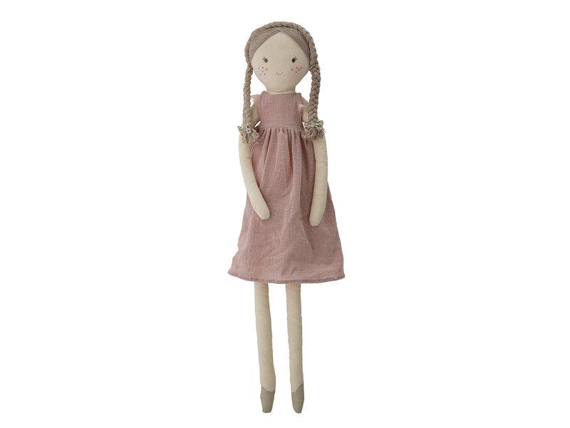 Bloomingville Mini Lilly Plüschtierpuppe Baumwolle - pink
