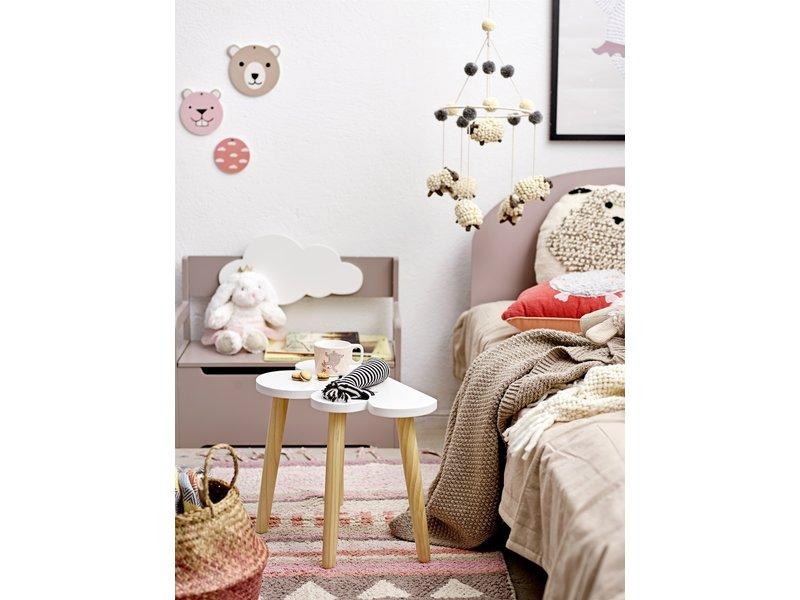 Bloomingville Mini Speelgoed knuffel katoen - wit