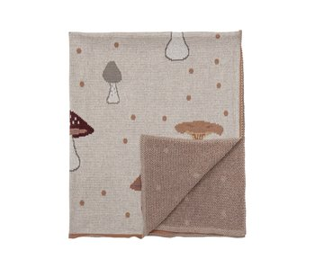 Bloomingville Mini Mushroom plaid cotton - natural