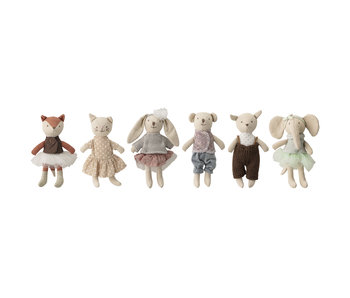Bloomingville Mini Friends toy cuddly toys - set of 6 pieces