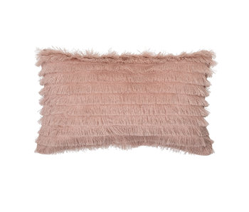 Bloomingville Mini Cotton cushion - pink 50x30cm