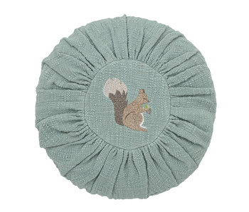 Bloomingville Mini Cotton cushion - green Ø33 cm