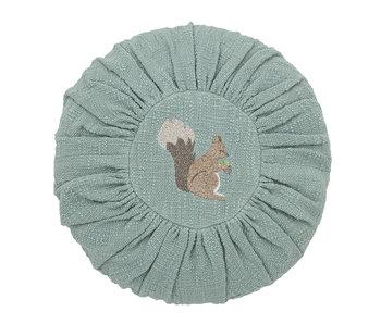 Bloomingville Mini Coussin en coton - vert Ø33 cm