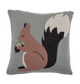 Bloomingville Mini Eekhoorn kussen katoen - blauw