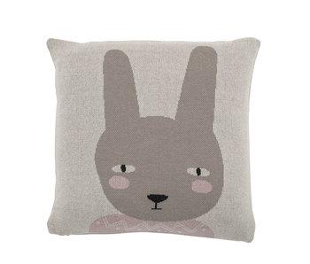 Bloomingville Mini Kaninchenkissen Baumwolle - grau