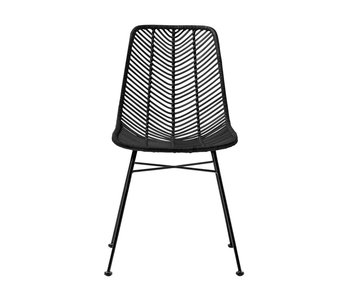 Bloomingville Rotan chair black