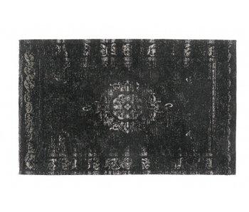 Nordal Grand gewebter Teppich - dunkelgrau / schwarz