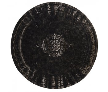 Nordal Grand rond vloerkleed donkergrijs/zwart - diameter 240cm