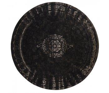 Nordal Grand rond vloerkleed donkergrijs/zwart - diameter 140cm