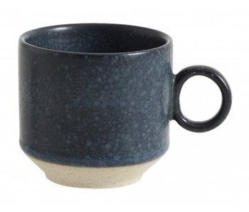 Nordal Grainy espresso mokken donkerblauw -set van 4 stuks