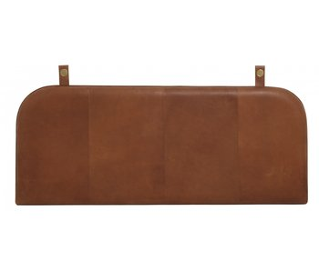 Nordal Onega headboard - brown leather