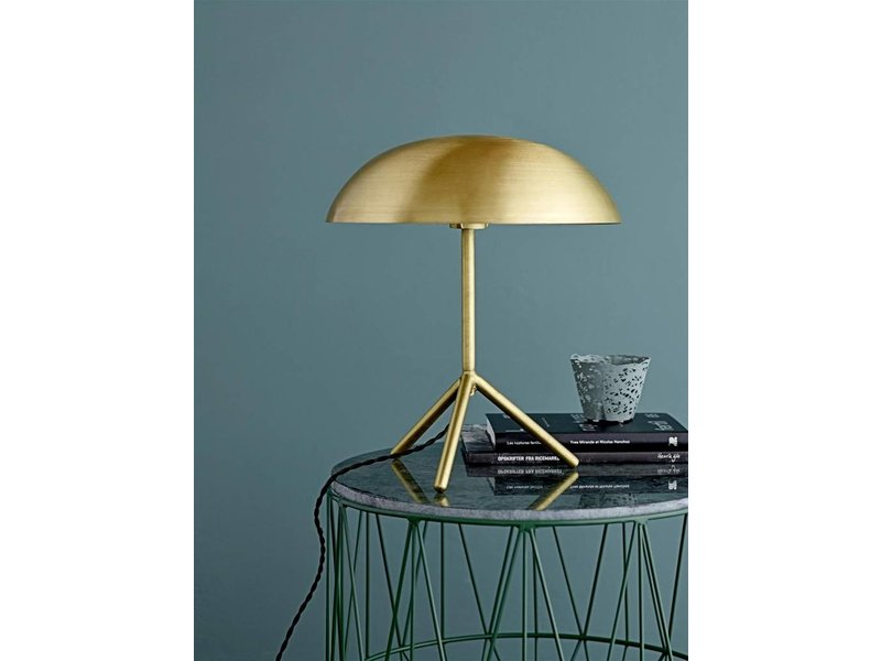 Bloomingville Tafel lamp tripod brushed gold messing