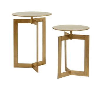 Nordal Table d'appoint Nyasa or - lot de 2 pièces
