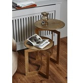 Nordal Nyasa side table gold - set of 2 pieces