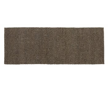 Nordal Fia vloerkleed wol - grijs/bruin 75x200cm
