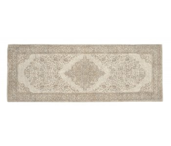 Nordal Pearl woven rug - sand / beige 75x200cm