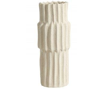 Nordal Nago høj vase M - hvid