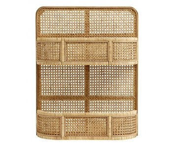 Nordal Lucca rattan rack - natural