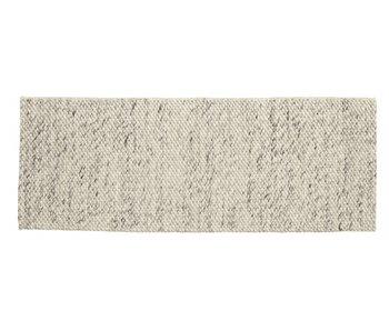 Nordal Lara vloerkleed wol - ivory/grijs 75x200cm