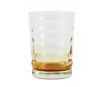 Nordal Jog glass transparent / amber -set of 6 pieces