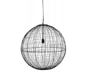 Nordal Selene hanglamp ijzer L - zwart