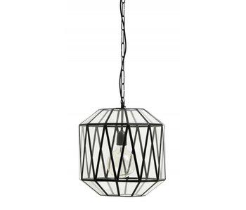 Nordal Aß hängende Lampe Glasdreiecke - schwarz