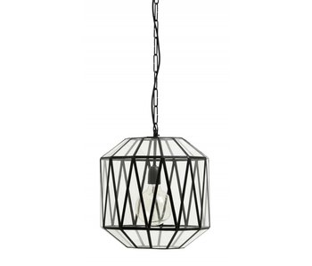 Nordal Ate hanging lamp glass triangels - black
