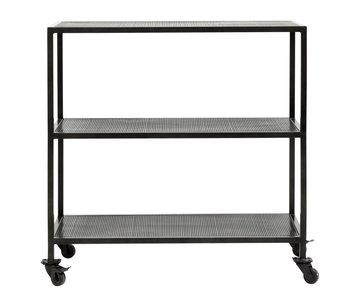 Nordal Karna trolley met 2 planken - zwart
