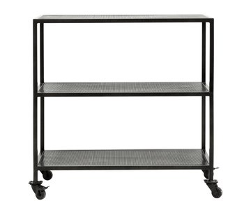 Nordal Karna trolley with 2 shelves - black