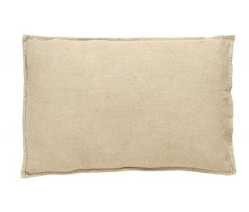 Nordal Vela cushion linen incl filling - dark sand