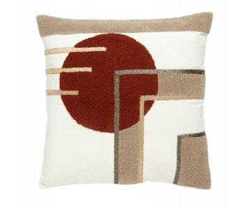 Nordal Cruz cushion incl filling - terracotta circle