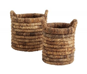 Nordal Abaca baskets natural - set of 2 pieces