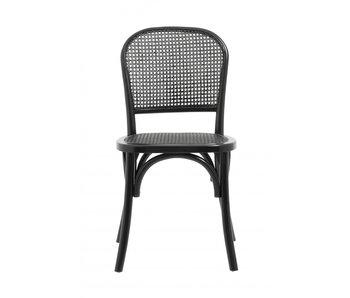 Nordal Wicky stoel met vlechtwerk - zwart