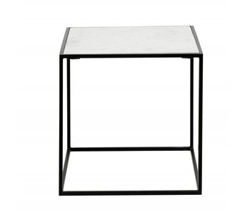 Nordal Table d'appoint Cube - marbre blanc S