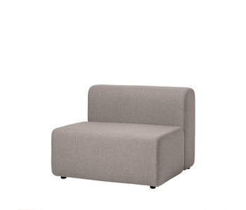 Broste Copenhagen Lagoon sofa module chair - latte