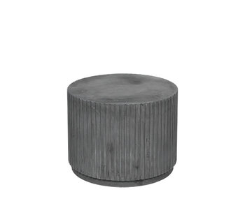 Broste Copenhagen Podium Rillo Ø56XH42CM - gris