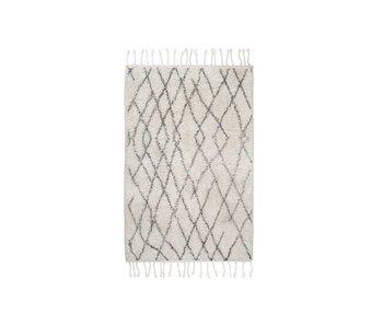 HK-Living alfombra de baño de algodón a cuadros