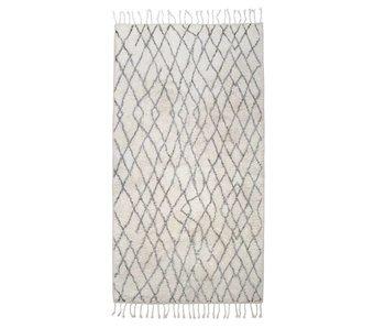 HK-Living tapis de bain en coton à carreaux