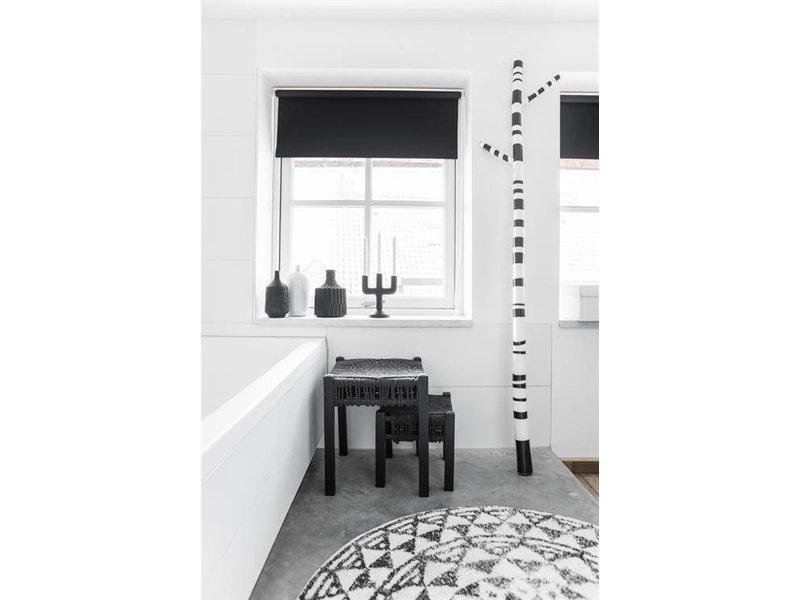 HK-Living Bomull badrumsmatta runt 120 cm