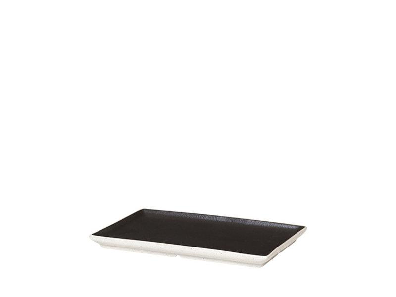 Broste Copenhagen Eli borden zwart- set van 8 stuks