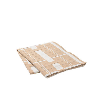Broste Copenhagen Earl tablecloth 160x300cm - rainy day / indian tan