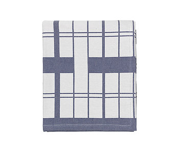 Broste Copenhagen Earl tablecloth 160x200cm - rainy day / flint stone