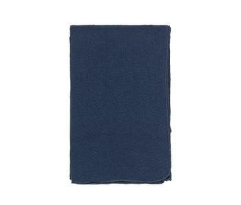 Broste Copenhagen Gracie eco tablecloth 160x200cm - blue