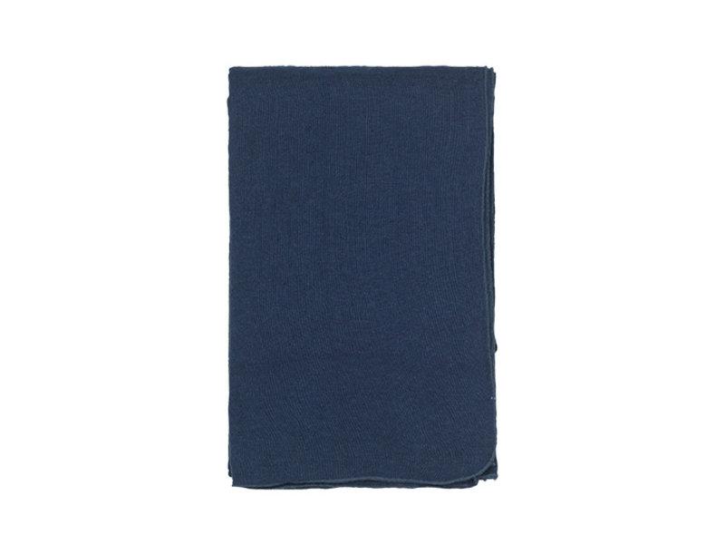 Broste Copenhagen Gracie eco tafelkleed 160x200cm - blauw