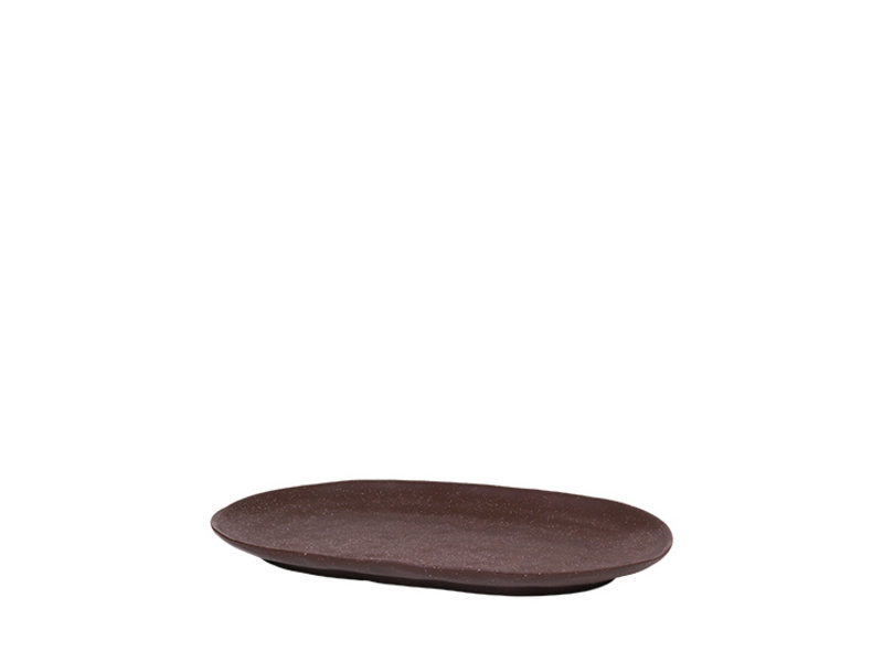 Broste Copenhagen Shape bord bruin - W29,5XL18,5XH2,5CM