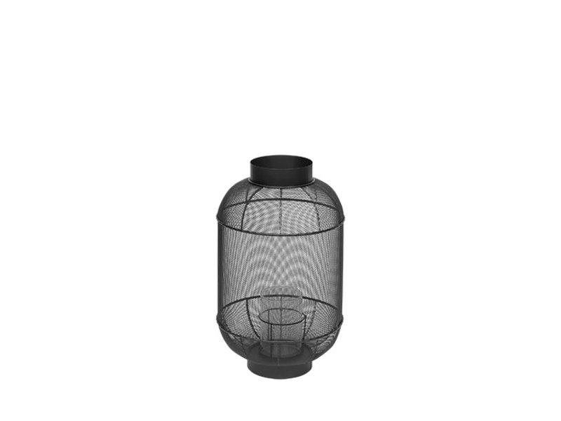 Broste Copenhagen Bull lantaarn metaal/glas - Ø31XH50CM