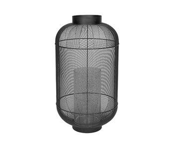 Broste Copenhagen Lanterne taureau métal / verre -Ø46,5XH82,5CM